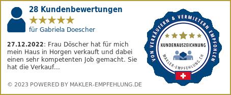 Qualitätssiegel makler-empfehlung.ch für Gabriela Döscher